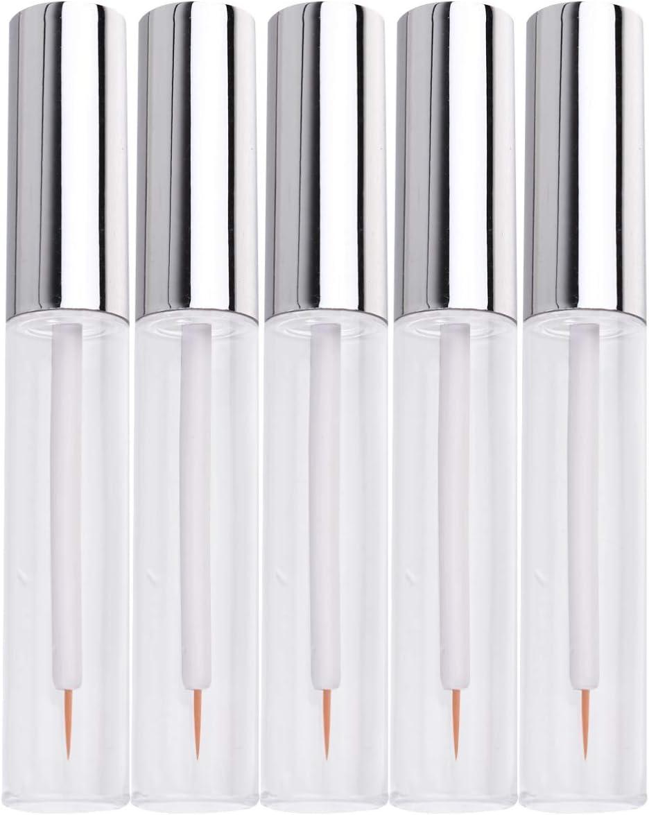 Artibetter 5 Piezas Botellas de Esmalte de Labios Vacías 10 Ml Tubos de Suero de Pestañas DIY Maquillaje Bálsamo Labial Botellas de Tubo de Brillo de Labios con Palos para Mujeres Niñas