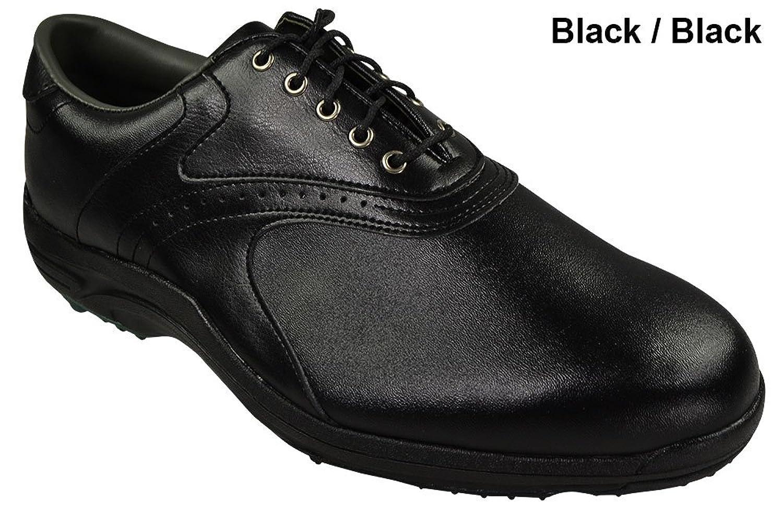 FOOTJOY Mens GreenJoys Golf Shoes - Size: 8.5, Black/black B00AEBV9F0 Parent