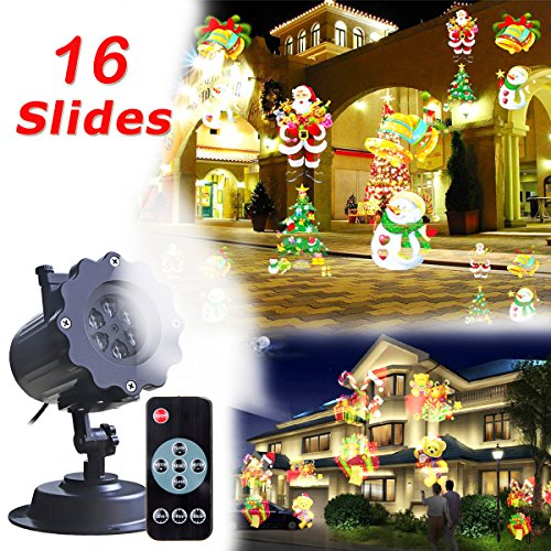Christmas Projector Led Light with16 Slides,Wat...