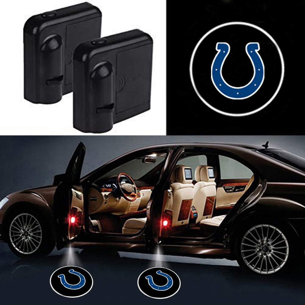 San Francisco 49ers 2Pcs Car Door Led Welcome Laser Projector Car Door Courtesy Light for San Francisco 49ers Suitable Fit for all brands of cars