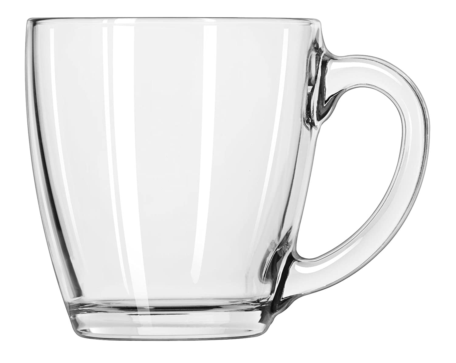 Libbey 15-1/2-Ounce Tapered Glass Mug, Clear, Box of 6