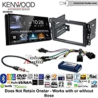 Volunteer Audio Kenwood DDX9904S Double Din Radio Install Kit with Apple CarPlay Android Auto Bluetooth Fits 2007-2013 Silverado, Avalanche (Factory amplified sound systems)