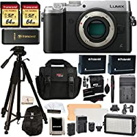 Panasonic DMC-GX8SBODY LUMIX GX8 Interchangeable Lens DSLM Camera Body Only + Transcend 64 GB 2 Pack + Polaroid 72 Inch Tripod + LED Light and Flash Kit + 2 Spare Batteries + Charger + Accessory Kit Basic Facts Review Image