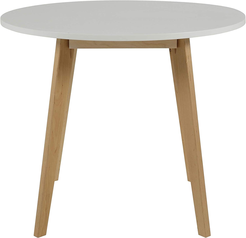 90//90//76 cm AC Design Furniture Tavolo da Pranzo Raven 64008 Bianca L//L//H Ca