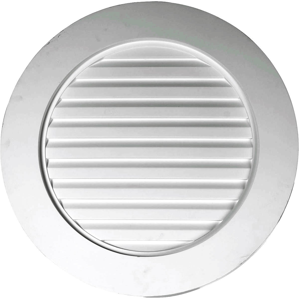 Functional Ekena Millwork GVRO24F 24-Inch W x 24-Inch H x 1 5//8-Inch P Round Gable Vent Louver
