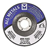 Mercer Industries 623610 Type 27 Pipe Cutting and Light Grinding Wheel for All Metals, Including SS, 4-1/2'' x 1/8'' x 7/8'', 25 Pack