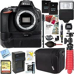 Nikon D5600 24.2mp Digital Slr Camera (Body Only) + 64gb Battery Grip Accessory Bundle