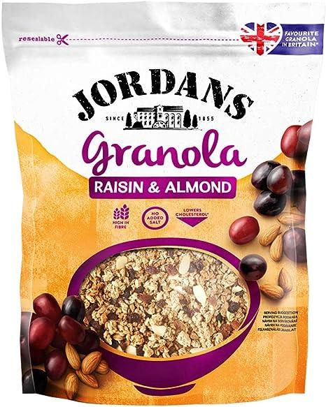 Jordans Cereal granola (Pasas y almendras) - 6 de 370 gr (Total 2220 gr.)