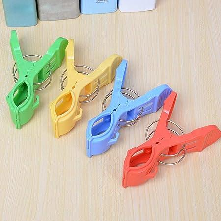TAOtTAO 12 Piezas de Pinzas de plástico para Toalla de Playa de Gran Color Brillante con Clips para Colcha Solar.: Amazon.es: Hogar