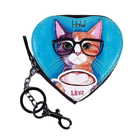 Amazon.com: LZIYAN - Monedero con forma de corazón para gato ...