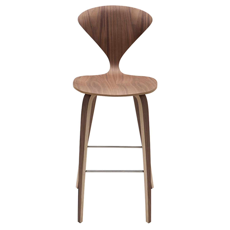 Design Cherner Counter Stool amazon com nuevo living hgem35 satine american walnut bar stool kitchen dining