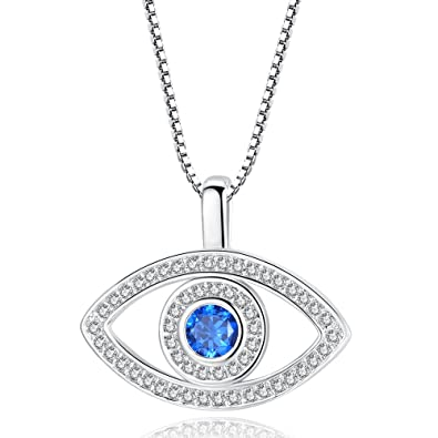 Amazon.com  ATDMEI Evil Eye Pendant Necklace for Women Girls Sterling Silver  Plated Zircon Jewelry Gifts  Jewelry 3c0eaa912b