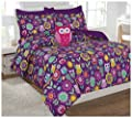 Twin & Full 6 Pcs or 8 Pcs Comforter/ Coverlet / Bed in Bag Set with Toy