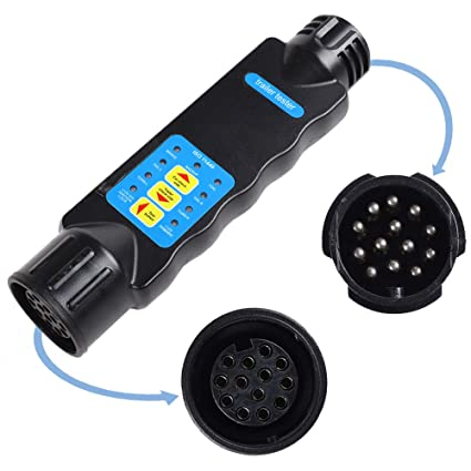 Groovy Aohewei 13 Pin Trailer Lights Plug And Socket Tester 12V Wiring Wiring Digital Resources Indicompassionincorg