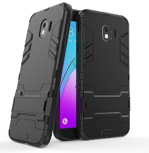pretty nice ea8f2 acd31 Samsung Galaxy J4 (2018) Case, FoneExpert Shockproof Rugged Impact Armor  Slim Hybrid Kickstand Protective Cover Case for Samsung Galaxy J4 (2018)