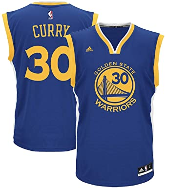 Outerstuff Boys Stephen Curry Golden State Warriors  30 Youth Road Jersey  Blue (Youth X 5d2e05801