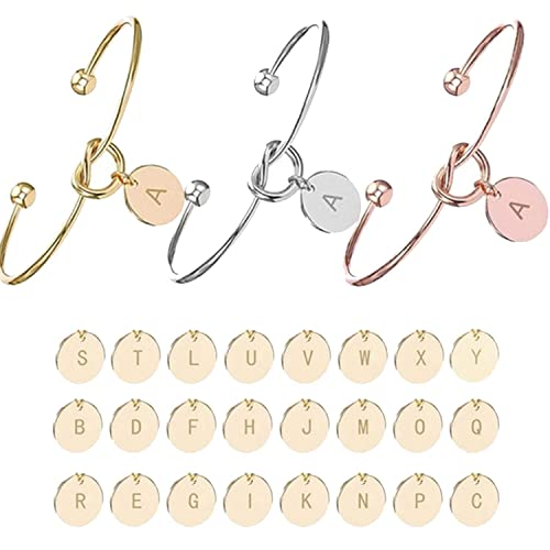 Image result for Personalized Knot Initial Bracelets Bangles