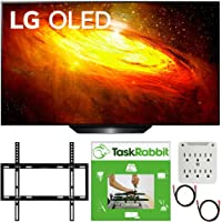 LG OLED65BXPUA 65 inch BX 4K Smart OLED TV with AI ThinQ 2020 Model Bundle with TaskRabbit Installation Services + Deco…