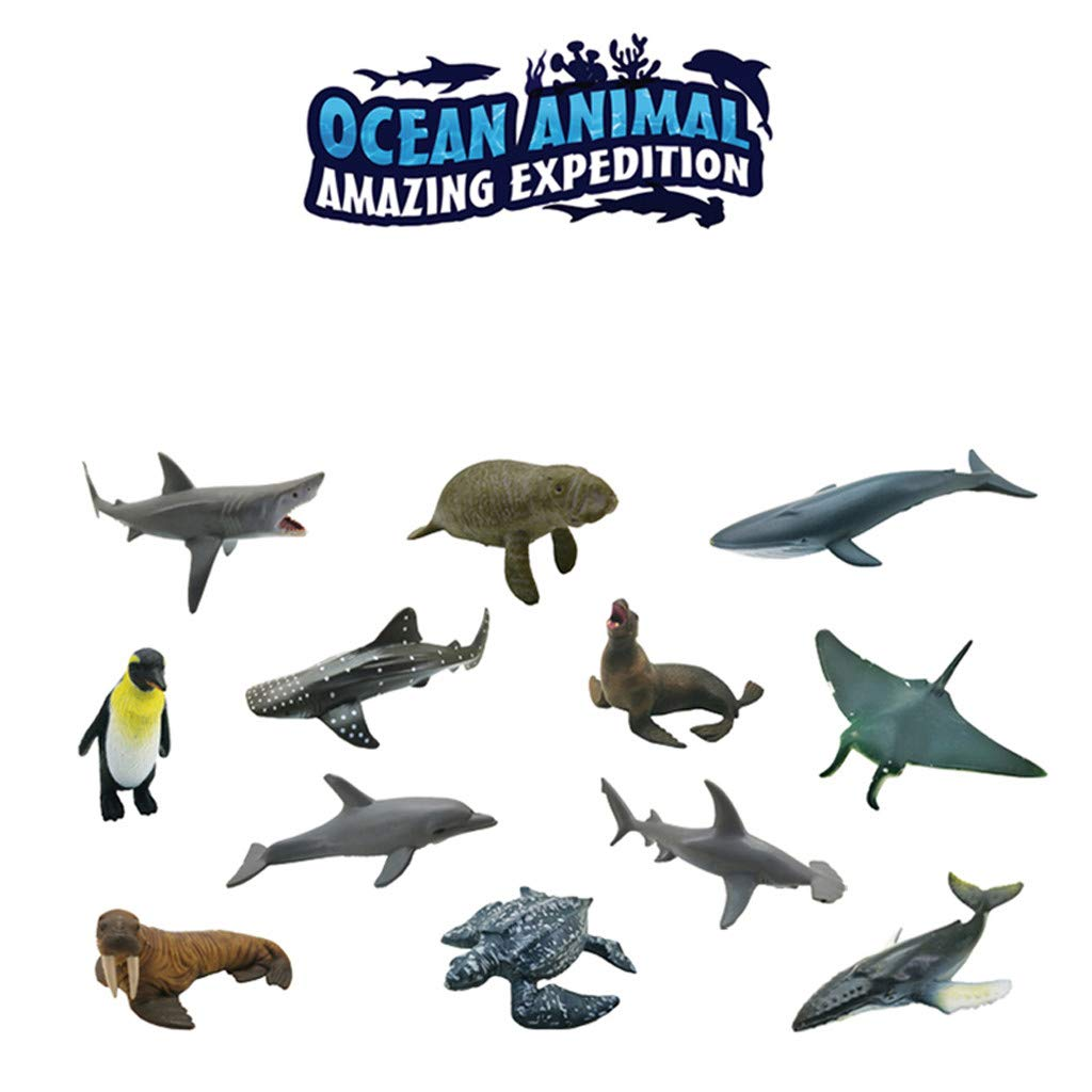Amazon.com: ERLOU 12 piezas de plástico simulación animales ...