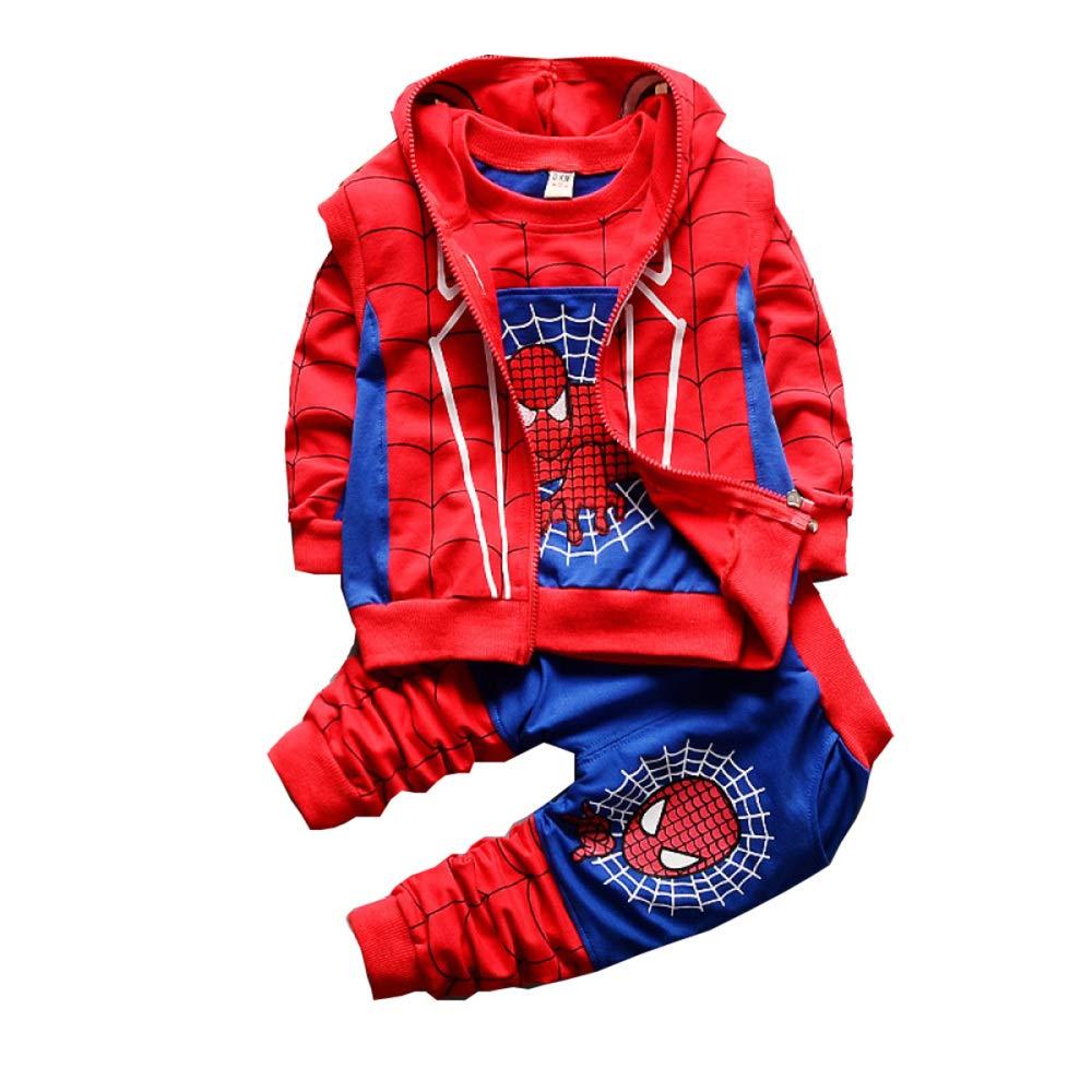 Halloween Abbigliamento per Bambini Ragazzo Armatura Guerriero Primavera E Autunno Tuta Set Bambini Cattura Re Maglione A Maniche Lunghe Spiderman Tre Pezzi