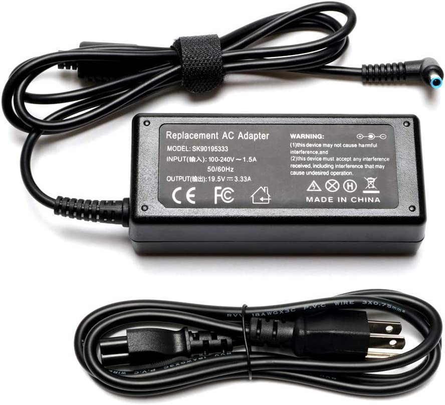 65W 19.5V 3.33A Laptop Charer for HP Chromebook 14 Series 14-Q020NR 14-Q010NR 14-Q039WM; HP Pavilion 14 15 series Notebook PC; Fit PA-1650-32HE 709985-001 710412-001 714657-001 709985-002 709985-003