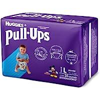 Huggies Pull-Ups Calzoncitos Entrenadores para Niño, Talla Grande, 1 Paquete con 30 Calzoncitos Desechables, Ideal para niños de entre 15 a 18 kg