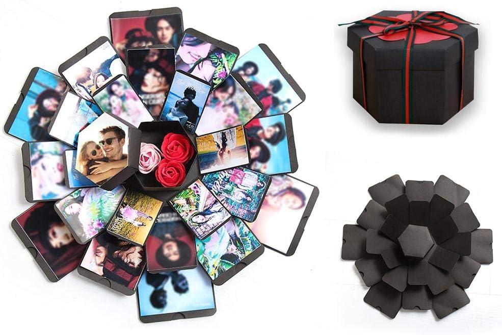 Album Explosion Box,DIY Scrapbook Photo Album 2019 Nueva Caja de Explosión Creativa Foto, DIY Accesorios Kit para cumpleaños San Valentín Regalo