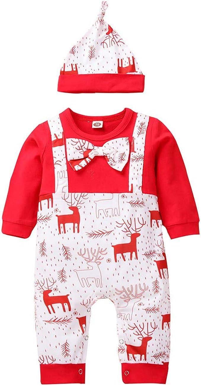 Baby Jungen Mädchen Cartoon Langarm Strampler 2pcs Weihnachten Kleidung Set Hose