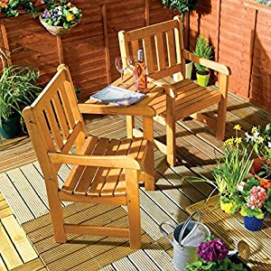 Jack And Jill Companion Garden Bench – Corner Love Seat Tete a Tete Set