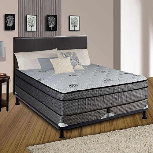 Continental Sleep Fifth Ave Collection, Fully Assembled  Mattress Set With 13'' Soft Euro Top Orthopedic Queen Mattress and 4'' Split Box Spring by Continental Sleep