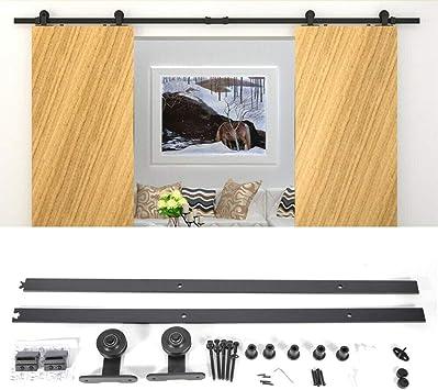Sistema de riel para puerta corredera (2 m): Amazon.es: Bricolaje y herramientas