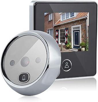 Video Doorbell Pantalla A Color De 4.3 hd Smart Doorbell Viewer Digital Door Peephole Viewer Camera Door Eye Grabaci/ón De Video Ir Visi/ón Nocturna dorado