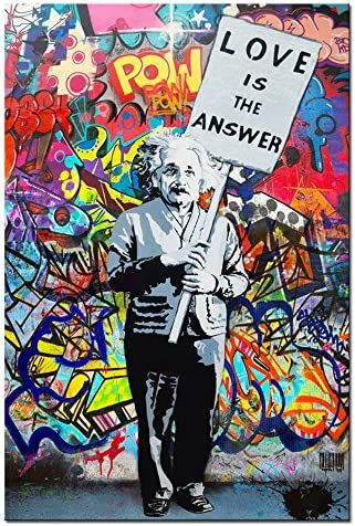 DVQ ART Einstein Painting Colorful product image