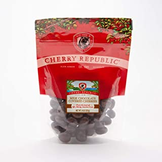 product image for Cherry Republic Milk Chocolate Covered Cherries - Michigan Montmorency Dried Tart Cherries With Milk Chocolate - Single 8 oz. Bag