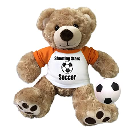 ebb3c07039d Image Unavailable. Image not available for. Color  Personalized Soccer  Teddy Bear - 13 inch Honey Vera Bear
