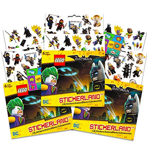 Lego Batman Birthday Party Supplies (Lego Batman Stickers Party Favors Pack - 18 Sheets of Lego Batman Stickers Bundled with 2 Bonus Separately Licensed Reward)