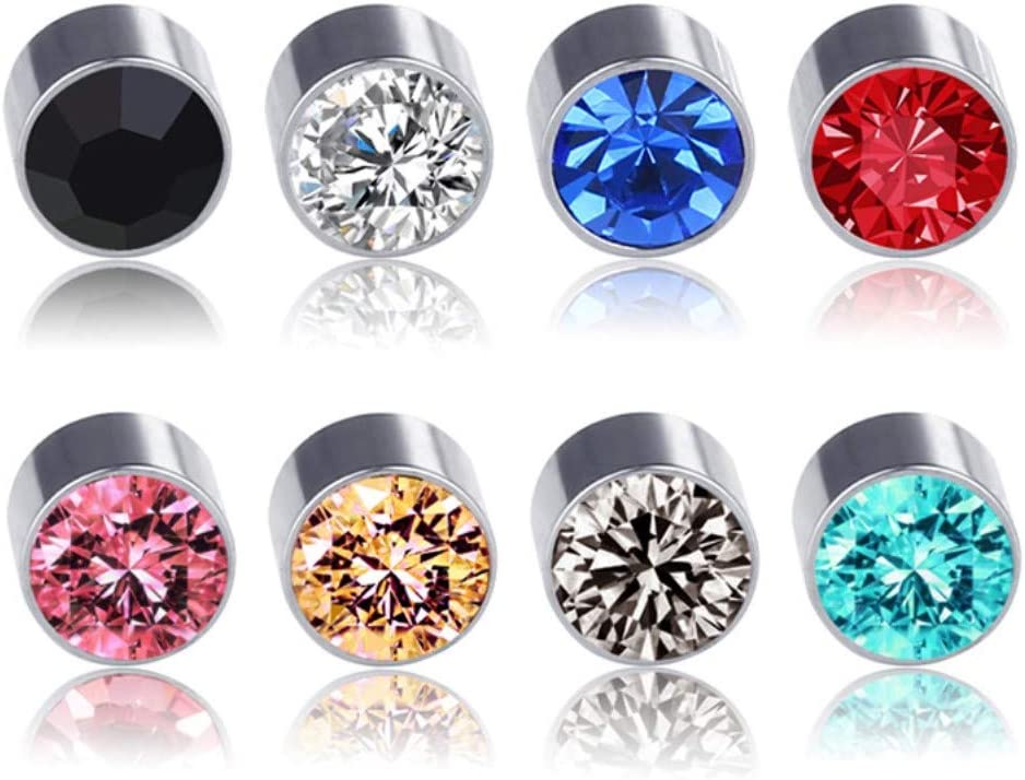 5mm Crystal Magnetic Stud Earring Magnet Nose Ear Lip Stud Non
