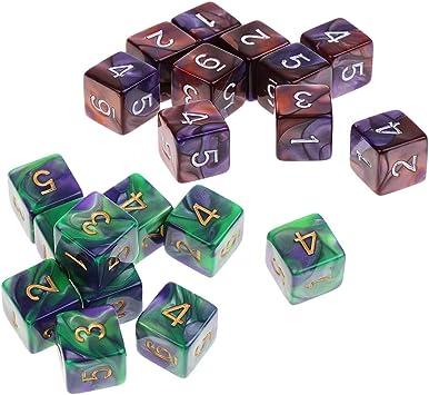 B Blesiya 20pcs D6 Dados de 6 Caras Dice Prop Accesorios Juguete para Juego de Mesa de Tablero: Amazon.es: Juguetes y juegos