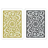 Copag Playing Card Set, Black and Gold Poker