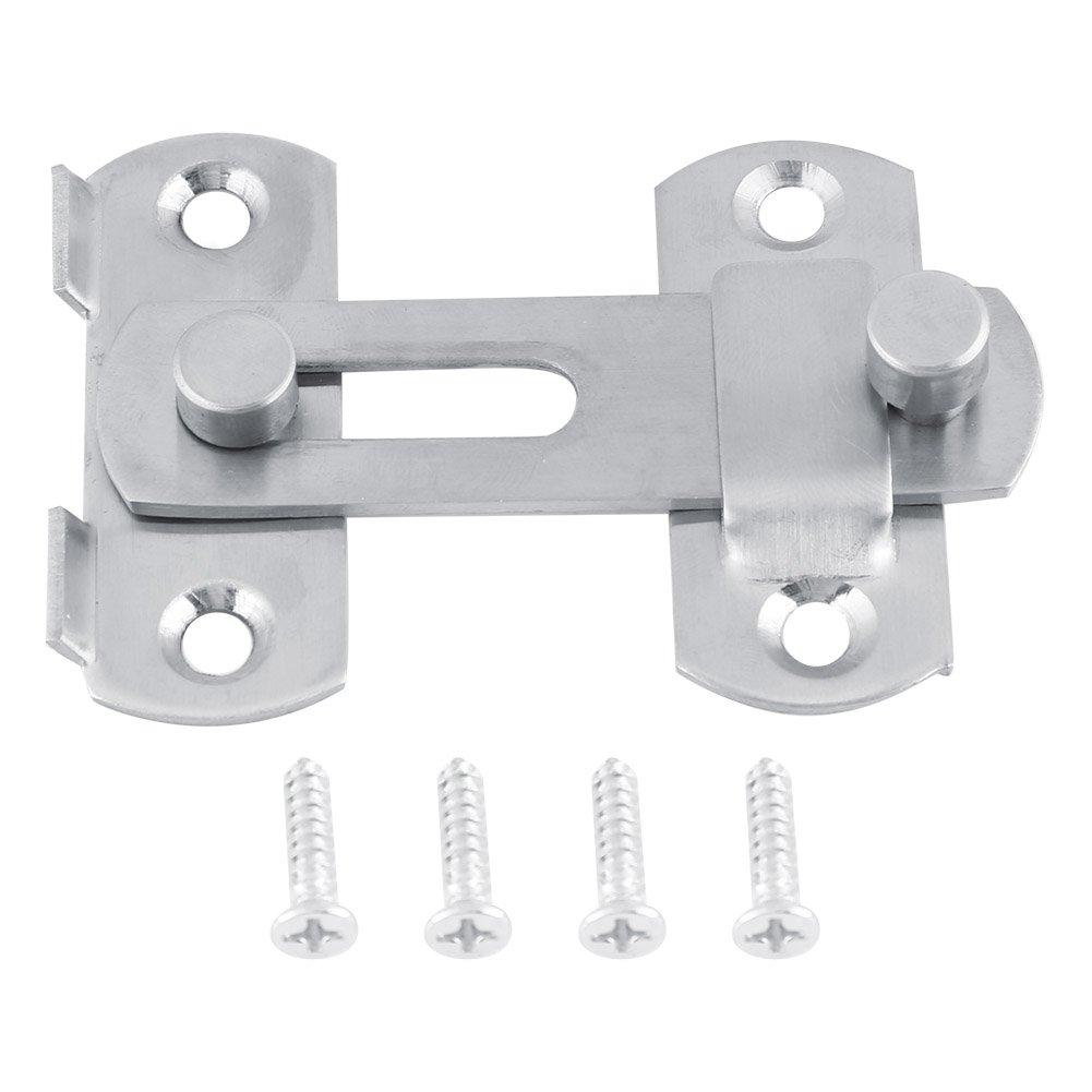 Akozon Hasp Latch Lock, Stainless Steel Sliding Door Lock, Cabinet Lock, Bathroom Lock for Window Cabinet Fitting Room Accessorries