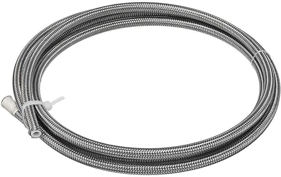 GIlH 2m AN3 Stainless Steel PTFE Brake Clutch Hose Line Pipe Fuel Hose
