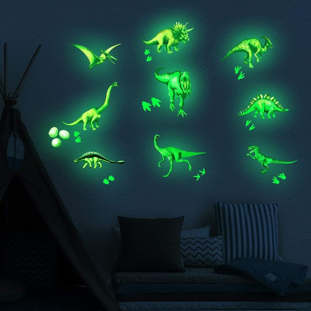 hahuha Toy Leuchtende Aufkleber Dinosaurier Wand Aufkleber Fluoreszierende Schlafzimmer Home Decor 3pcs