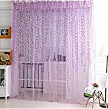 Aiweasi Wicker Decorative Curtain Screens Purple 1X2M