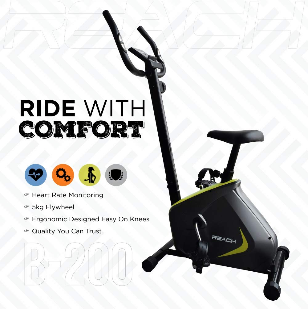 Reach B-200 Exercise Fitness Gym Cycle With Cushioned Seat for Home