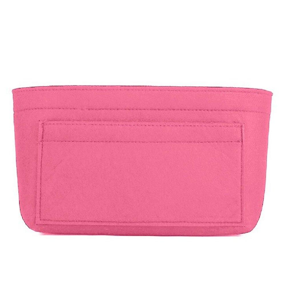 Felt Insert Bag Organizer Bag In Bag For Handbag Purse Organizer, Six Color Three Size Medium Large X-Large (Large, Pink) by ZTUJO (Image #3)
