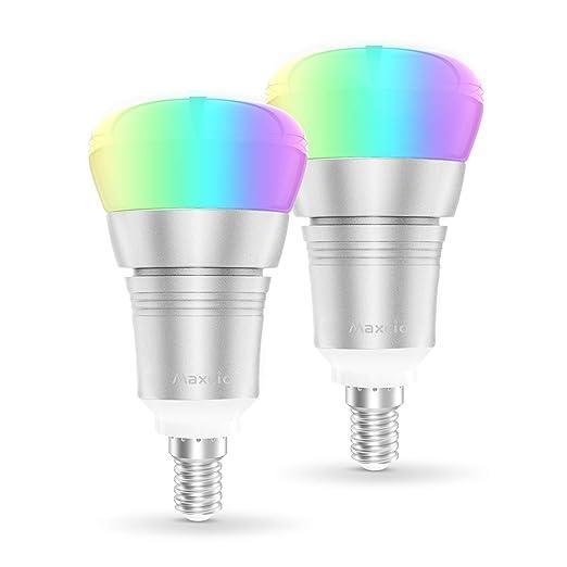 Smart Alexa Lampe, Maxcio Wifi Led Glühbirne, [9W E14], Kompatibel mit Amazon Alexa und Google Home, Fernsteuerung via App, T