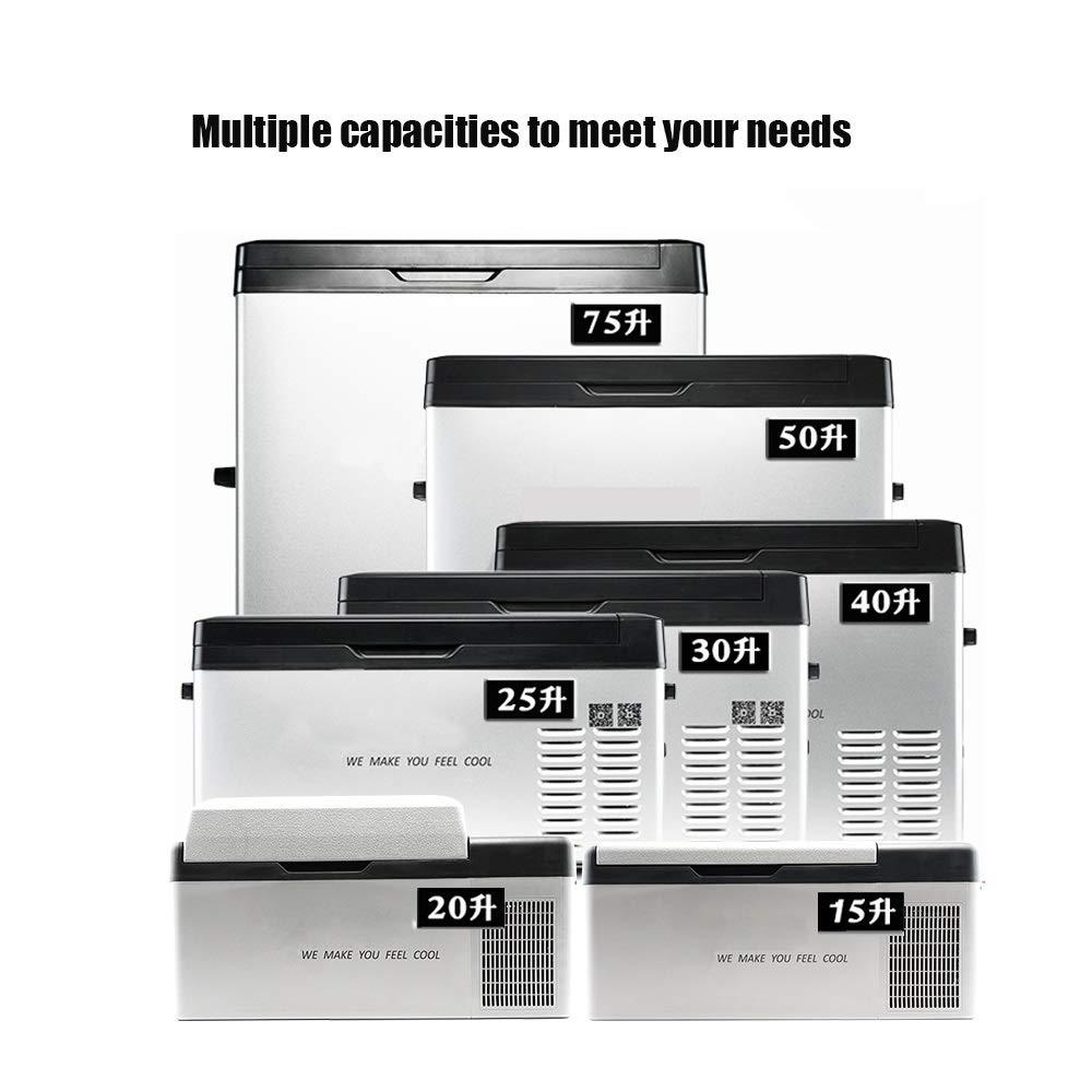 Lllcxus 12V,24V Car/Home Refrigerator Compressor 15L,20L,25L,30L,40L,50L,75L, Shockproof Refrigerated LCD Small Mini Freezer with Phone (Color : C20L, Size : Home+Car) by Lllcxus