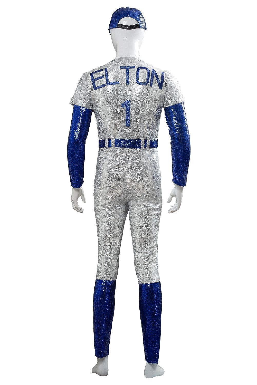 Amazon.com: Mens Elton John Baseball Costume Uniform ...