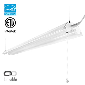 LeonLite 40W 4ft Linkable LED Utility Shop Light Double-Tube T8 LED 4000lm  sc 1 st  Amazon.com & LeonLite 40W 4ft Linkable LED Utility Shop Light Double-Tube T8 ... azcodes.com