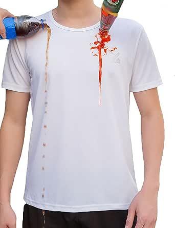 Camiseta Transpirable Impermeable Cuello Redondo Manga Corta para Hombres y Mujeres Deportes de Secado Rápido Funcionamiento Baselayer